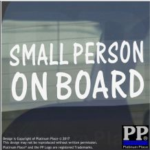 1 x Small Person On Board Sticker-Car,Van,Window Warning Sign-Baby,Child,Kid,Gift
